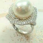 大粒パールの指輪